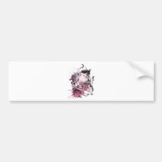 Wellcoda Music Headphone Love Feeling Bumper Sticker