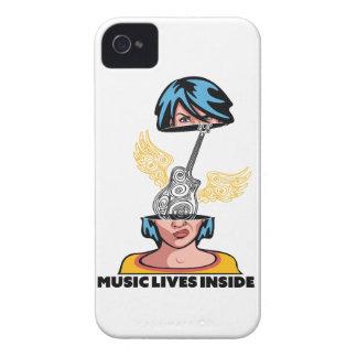 Wellcoda Music Lives Inside Brain Beats iPhone 4 Covers