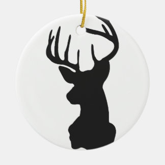 Wellcoda National Deer Hunt Stag Party Round Ceramic Decoration