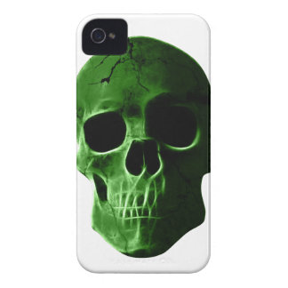 Wellcoda Neon Glow Skull Head Scary Face iPhone 4 Cover