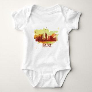 Wellcoda New York City NYC USA Liberty Baby Bodysuit
