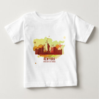 Wellcoda New York City NYC USA Liberty Baby T-Shirt