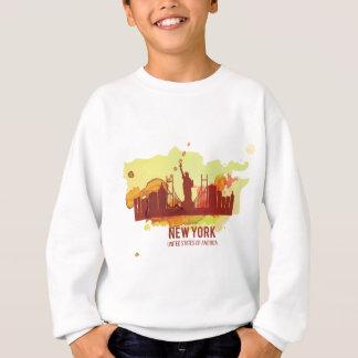 Wellcoda New York City NYC USA Liberty Sweatshirt