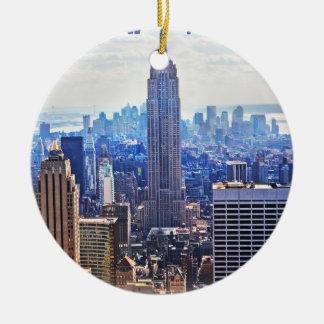 Wellcoda New York City NYC USA Urban Life Christmas Ornament