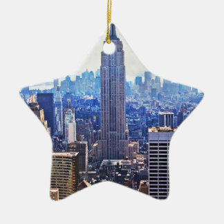 Wellcoda New York City NYC USA Urban Life Christmas Ornament