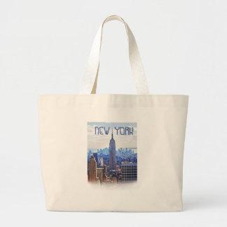 Wellcoda New York City NYC USA Urban Life Large Tote Bag