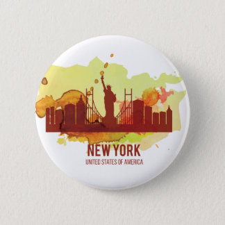 Wellcoda New York City NYC USA View Tour 6 Cm Round Badge