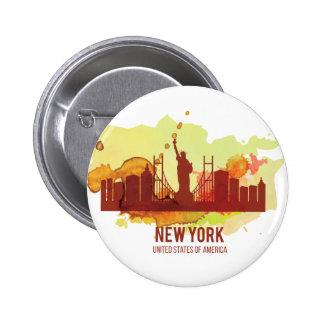 Wellcoda New York City NYC USA View Tour 6 Cm Round Badge