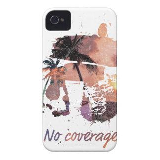 Wellcoda No Coverage Paradise Island Life iPhone 4 Case-Mate Case
