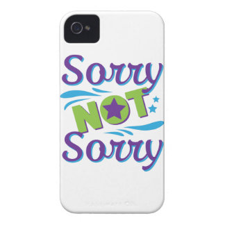Wellcoda Not Sorry Fun Apology Crazy Fake iPhone 4 Case-Mate Cases