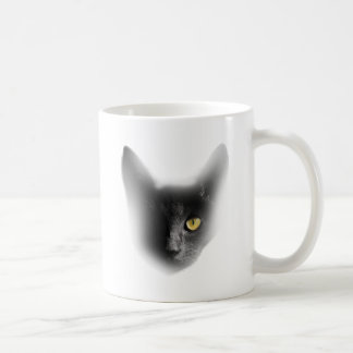 Wellcoda One Eyed Black Cat Freaky Kitten Coffee Mug