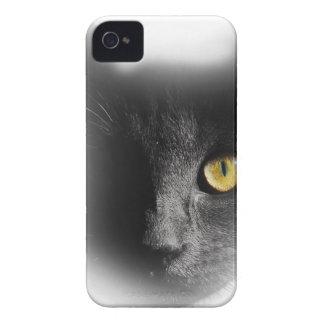 Wellcoda One Eyed Black Cat Freaky Kitten iPhone 4 Case-Mate Cases
