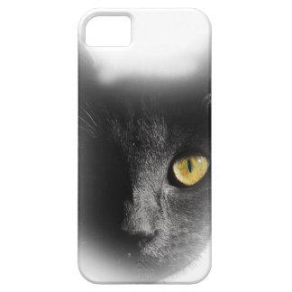Wellcoda One Eyed Black Cat Freaky Kitten iPhone 5 Covers