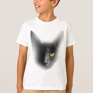 Wellcoda One Eyed Black Cat Freaky Kitten T-Shirt
