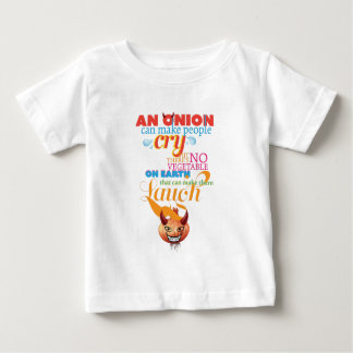 Wellcoda Onion People Cry Evil Vegetable Baby T-Shirt