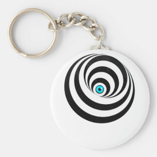 Wellcoda Optical Illusion Eye Vision Idea Basic Round Button Key Ring