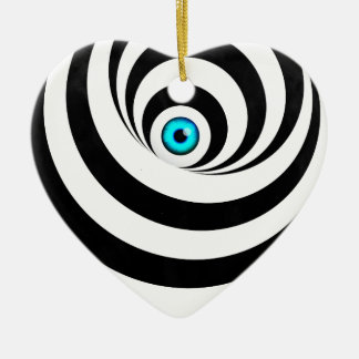 Wellcoda Optical Illusion Eye Vision Idea Ceramic Heart Decoration
