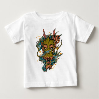 Wellcoda Oriental Dragon Head Evil Beast Baby T-Shirt