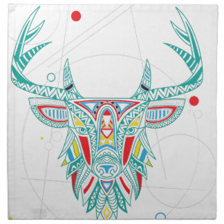 Wellcoda Ornament Animal Head Deer Horn Napkin