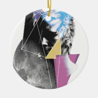 Wellcoda Outer Space People Cosmo Future Christmas Ornament