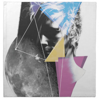 Wellcoda Outer Space People Cosmo Future Napkin