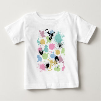 Wellcoda Paint Fun Splat Effect Colourful Baby T-Shirt
