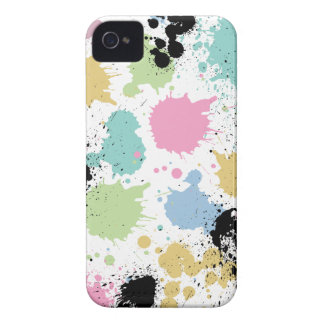 Wellcoda Paint Fun Splat Effect Colourful Case-Mate iPhone 4 Case