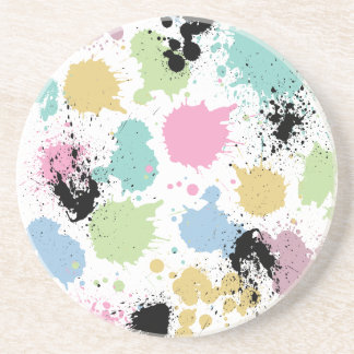 Wellcoda Paint Fun Splat Effect Colourful Coaster