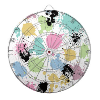 Wellcoda Paint Fun Splat Effect Colourful Dartboard