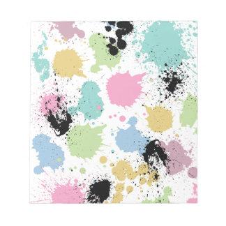 Wellcoda Paint Fun Splat Effect Colourful Notepads