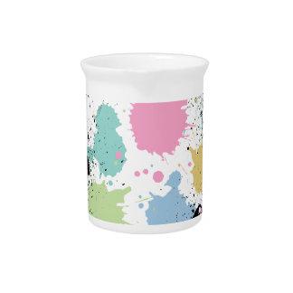Wellcoda Paint Fun Splat Effect Colourful Pitcher