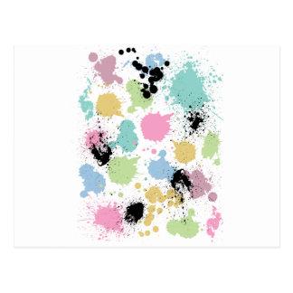 Wellcoda Paint Fun Splat Effect Colourful Postcard