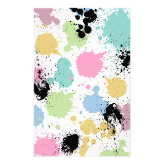 Wellcoda Paint Fun Splat Effect Colourful Stationery