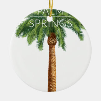 Wellcoda Palm Springs Holiday Summer Fun Round Ceramic Decoration