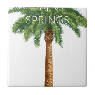 Wellcoda Palm Springs Holiday Summer Fun Small Square Tile