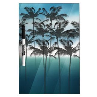 Wellcoda Palm Tree Holiday Fun Vacation Dry Erase Board