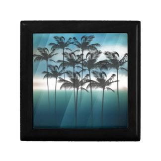 Wellcoda Palm Tree Holiday Fun Vacation Small Square Gift Box