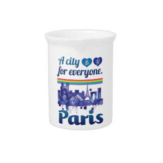 Wellcoda Paris For Everyone Love City Pitcher
