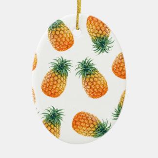 Wellcoda Pineapple Fruit Bowl Summer Fun Ceramic Oval Decoration