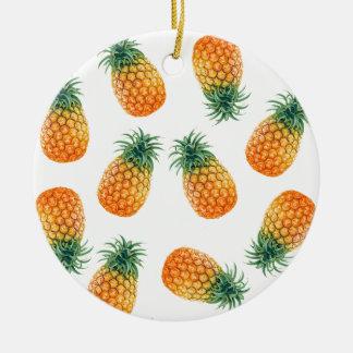 Wellcoda Pineapple Fruit Bowl Summer Fun Christmas Ornament