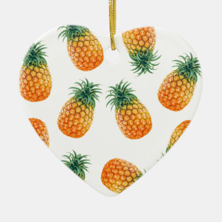 Wellcoda Pineapple Fruit Bowl Summer Fun Christmas Ornament