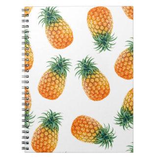Wellcoda Pineapple Fruit Bowl Summer Fun Notebook