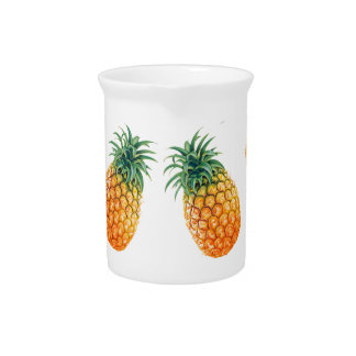 Wellcoda Pineapple Fruit Bowl Summer Fun Pitcher
