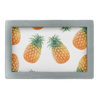 Wellcoda Pineapple Fruit Bowl Summer Fun Rectangular Belt Buckles