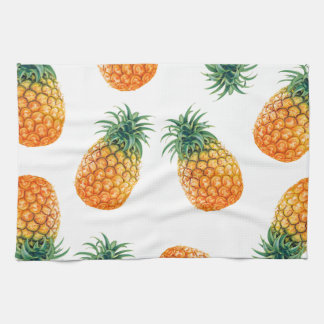 Wellcoda Pineapple Fruit Bowl Summer Fun Tea Towel