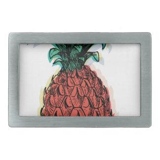Wellcoda Pineapple Fruit Tree Tasty Treat Belt Buckle