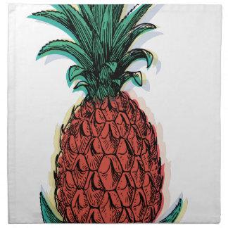 Wellcoda Pineapple Fruit Tree Tasty Treat Cloth Napkins