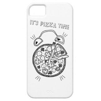 Wellcoda Pizza Time Clock Eat Funny Watch Barely There iPhone 5 Case
