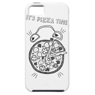 Wellcoda Pizza Time Clock Eat Funny Watch Tough iPhone 5 Case