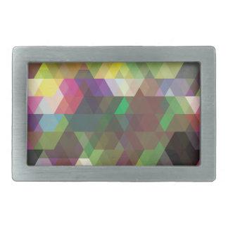 Wellcoda Polygon Colour Shape Crazy Pattern Belt Buckles